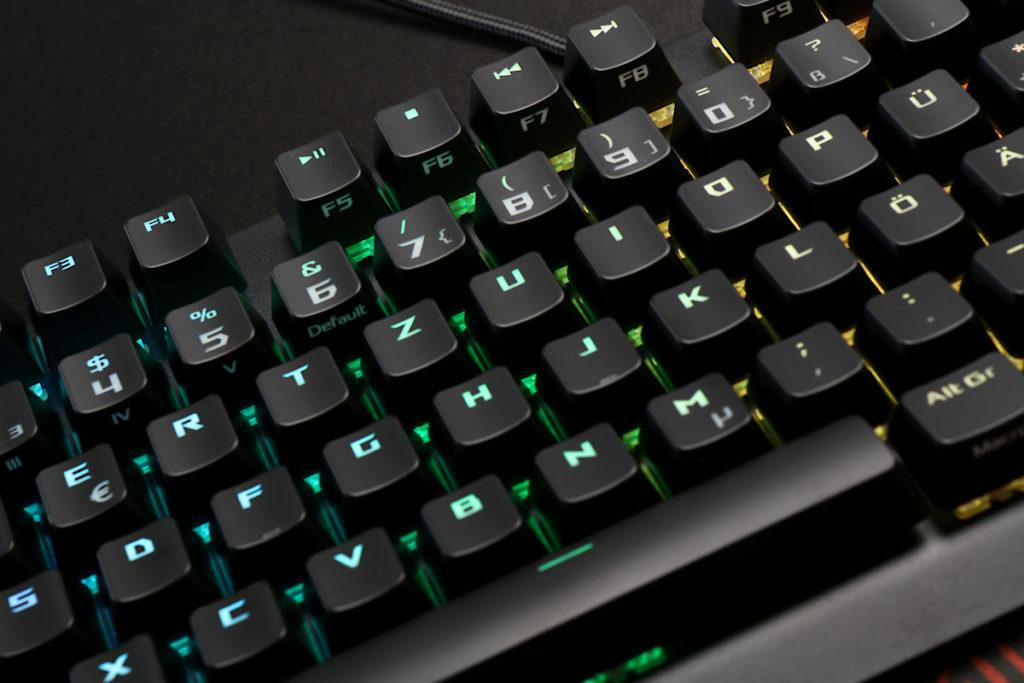 Ausleuchtung der Asus ROG Strix Scope 4 Tastatur