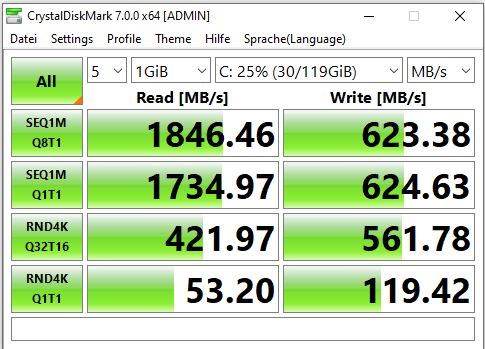 xpg sx6000 lite benchmark