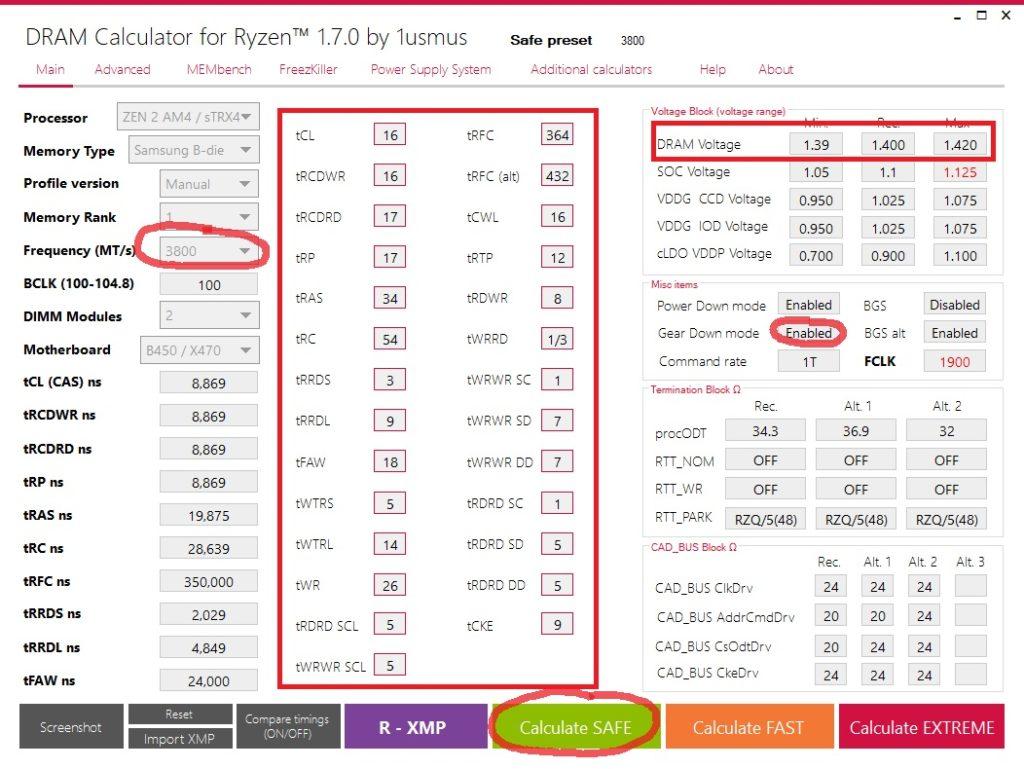 DRAM Calculator for Ryzen Overclocking