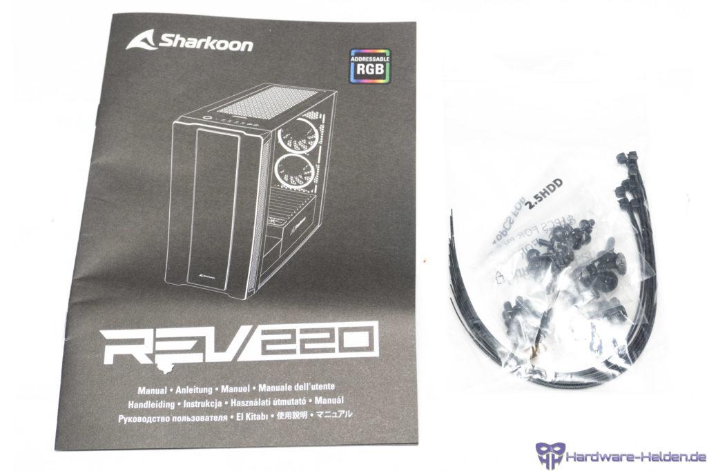 Sharkoon REV220 Lieferumfang
