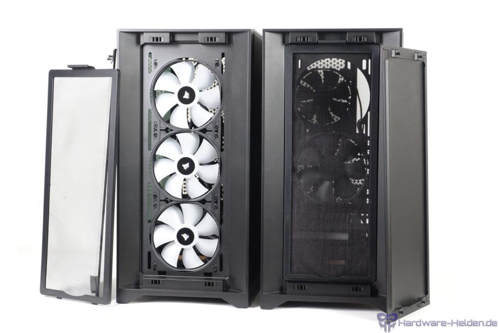 Corsair 4000D und 4000X RGB Front