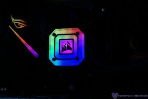 Corsair iCUE H150i ELITE CAPELLIX RGB transparenter Deckel