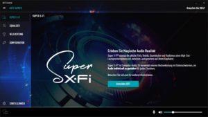 Creative SXFI Software