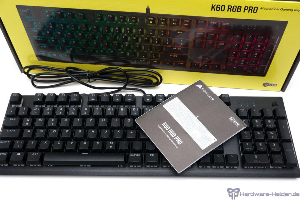 Corsair K60 Pro Lieferumfang Verpackung