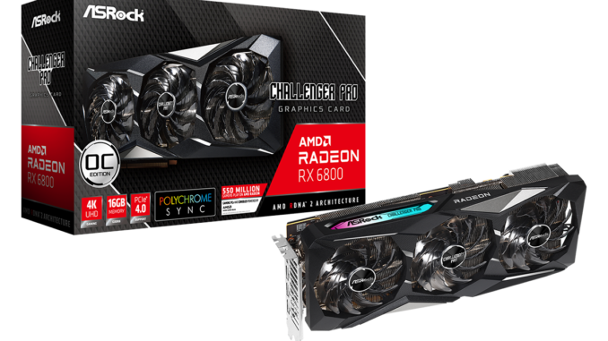 Radeon™ RX 6800 Challenger Pro 16G OC