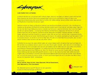cyberpunk 2077 updates rückgabe