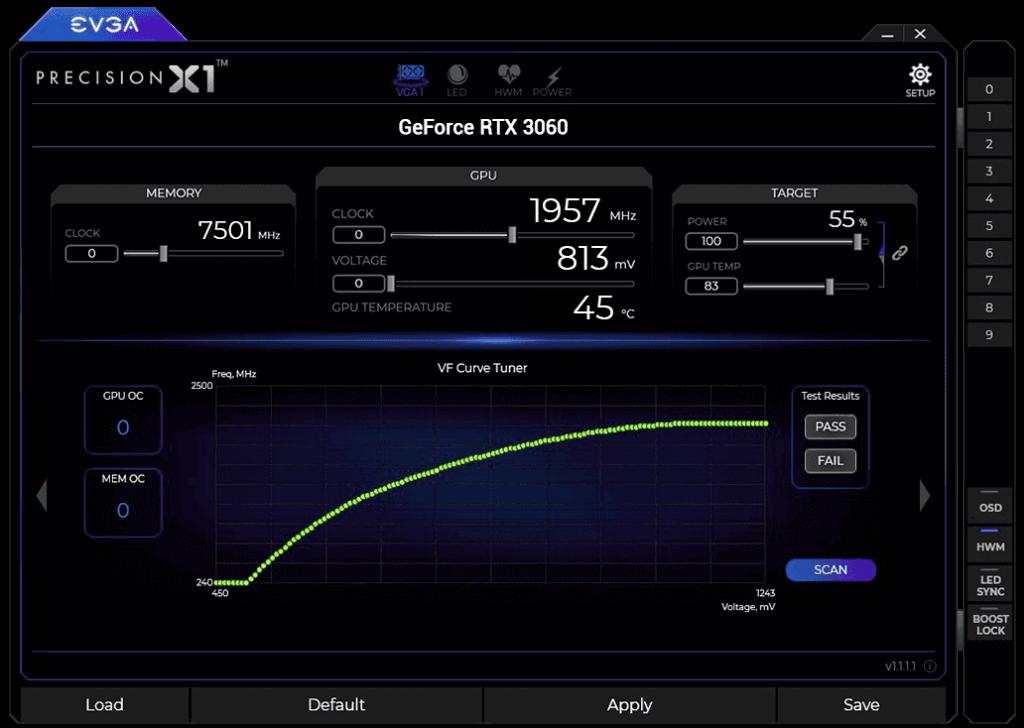 EVGA RTX 3060 12 GB XC Takt Boost