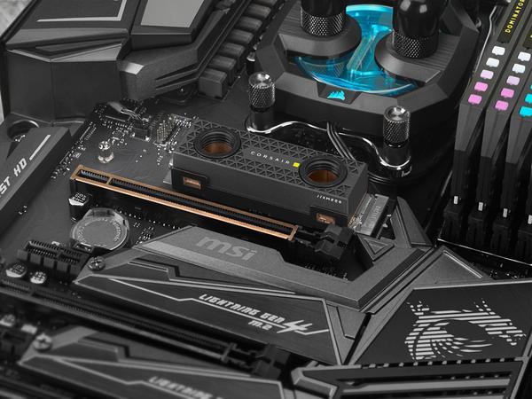 Corsair MP600 Core Hydro X SSD (Bild: Corsair)