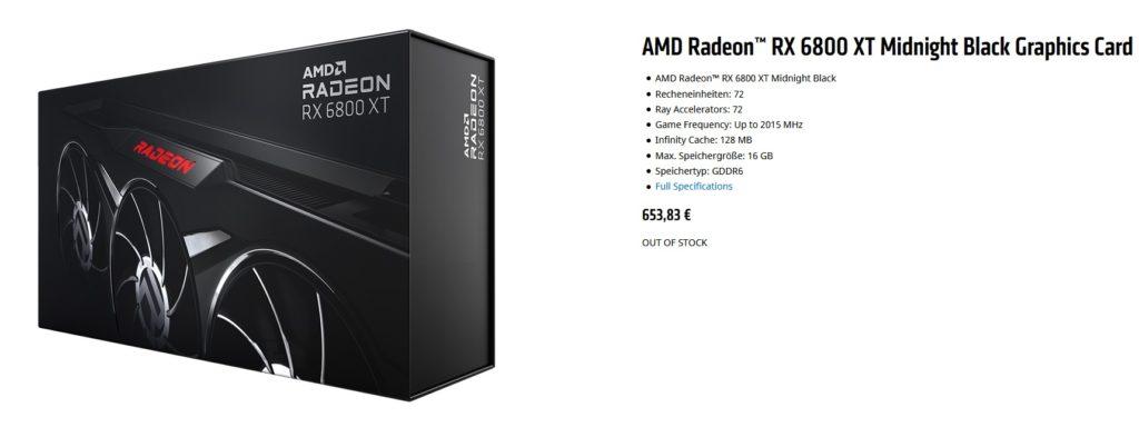 radeon rx 6800 xt schwarz midnight kaufen
