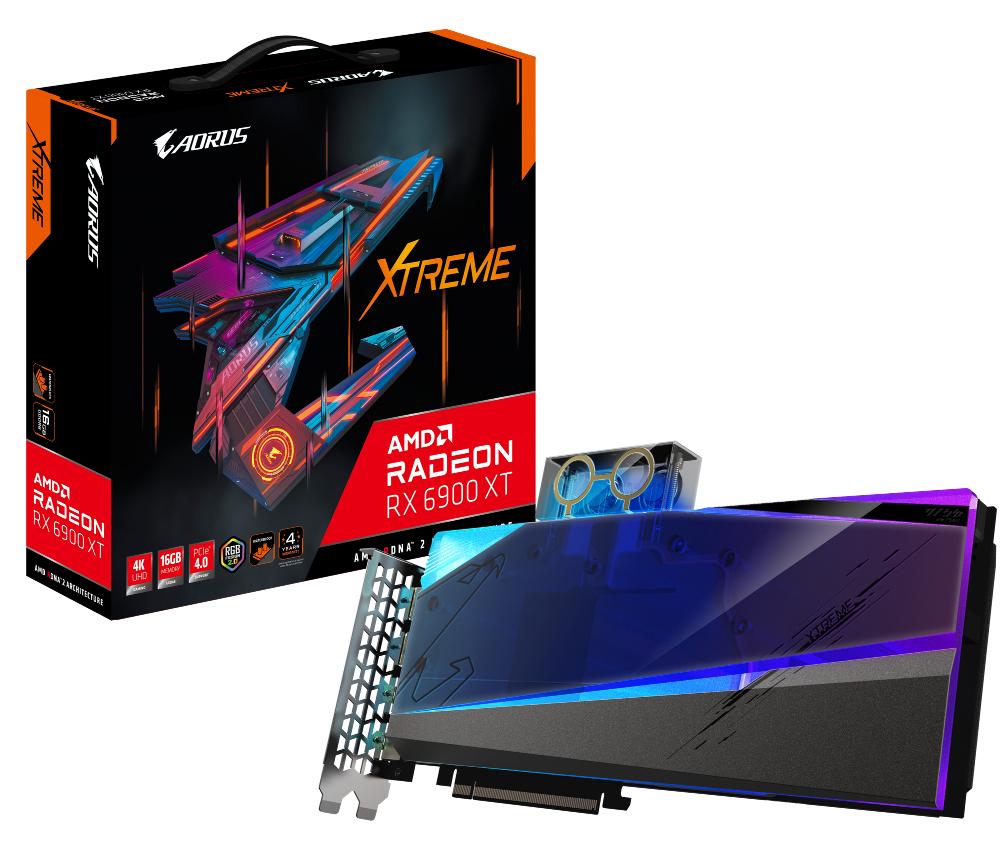 Gigabyte Aorus Radeon RX 6900 XT Xtreme Waterforce WB 16G box