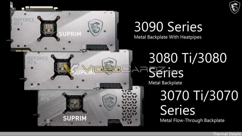 MSI Suprim RTX 3080 ti 3070 ti
