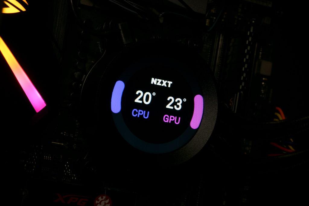 NZXT Kraken X73 Display Temperaturen