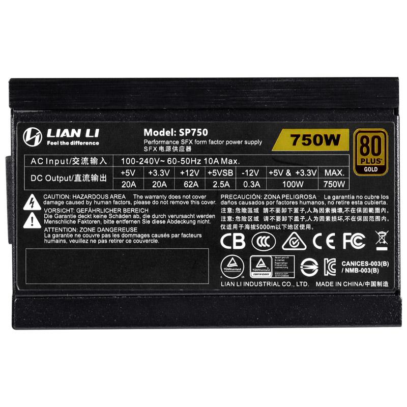 Lian Li SP750 specs