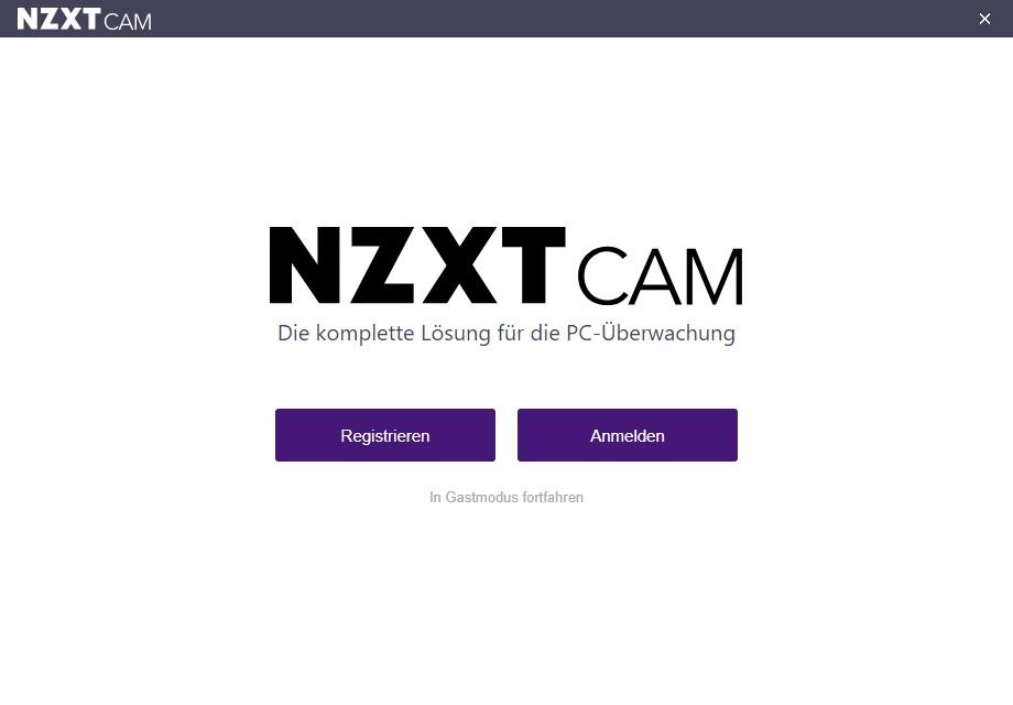 nzxt cam guest gast mode