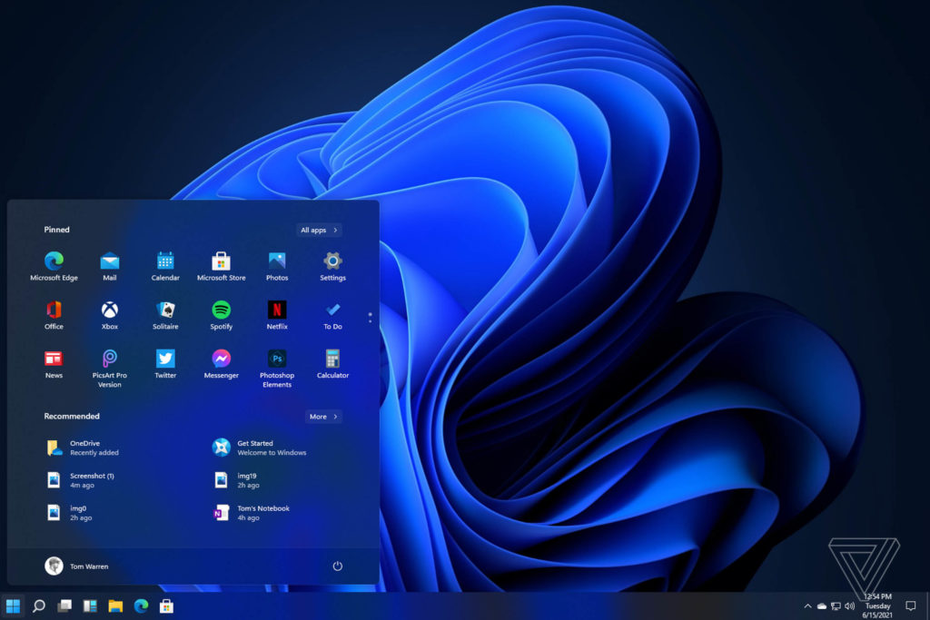 Windows 11 Desktop Start Menu