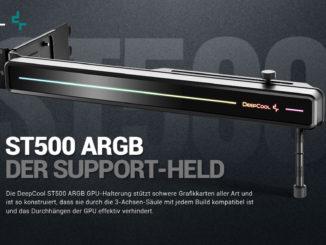 deepcool st500 argb gpu-halter