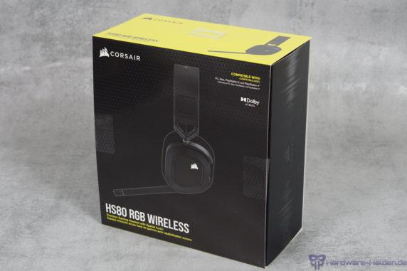 Corsair HS80 RGB Wireless Verpackung