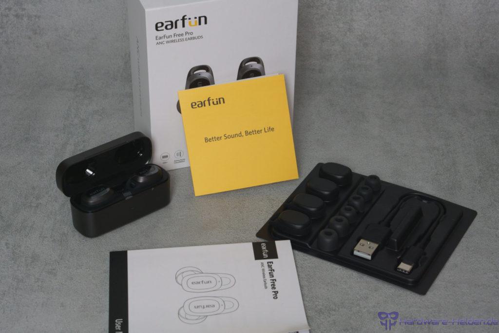 earfun free pro unboxing