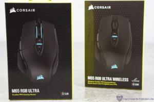 Corsair M65 Ultra RGB und Wireles