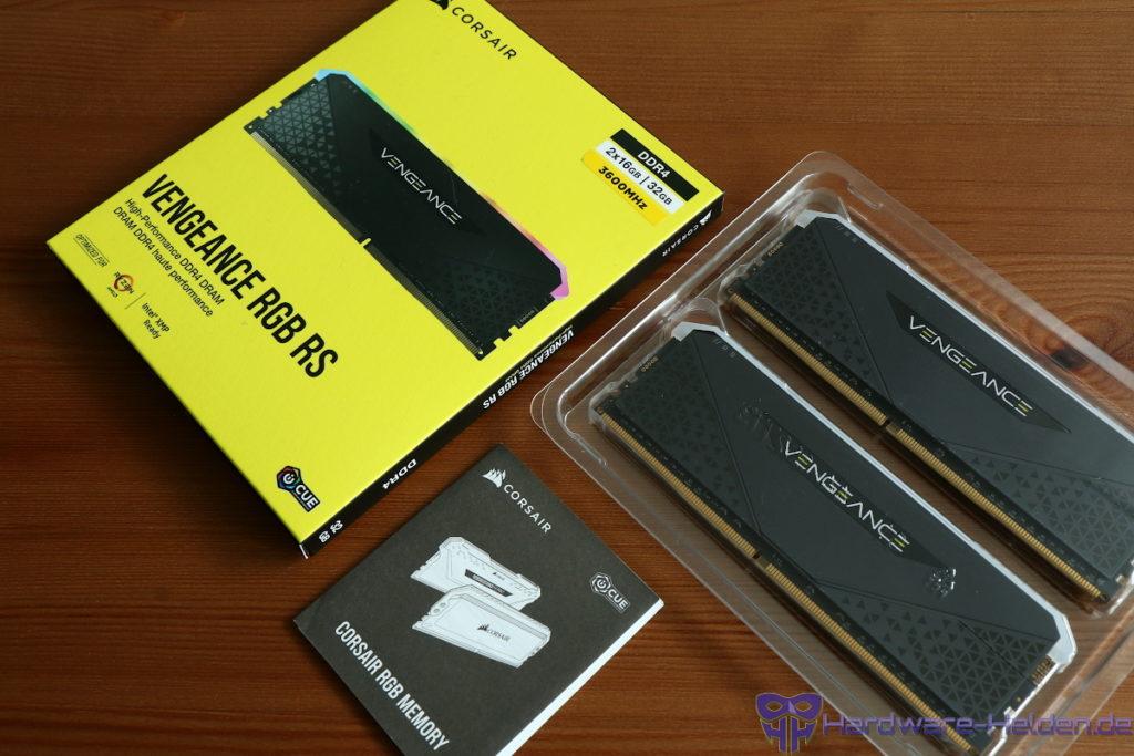 Corsair Vengeance RGB RS Verpackung