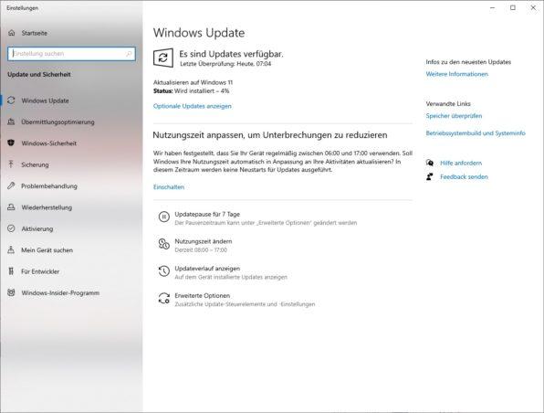Windows 11 Update installieren
