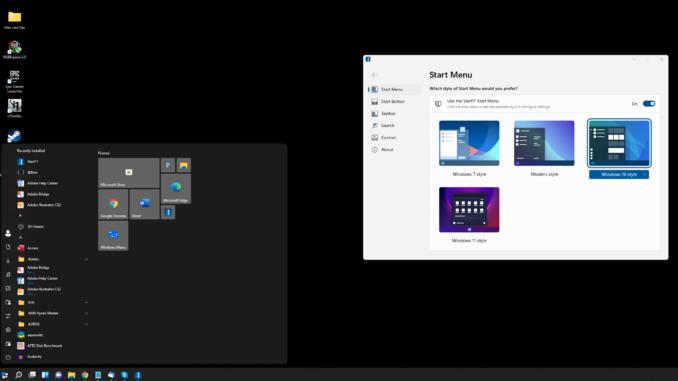 Windows 11 altes Startmenü